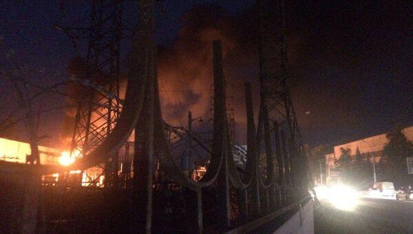 Пожар на ТЭЦ в Новосибирске. 26 августа 2017