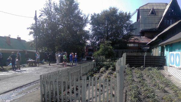 На месте пожара дома престарелых Жемчужина в Красноярске. 28 августа 2017
