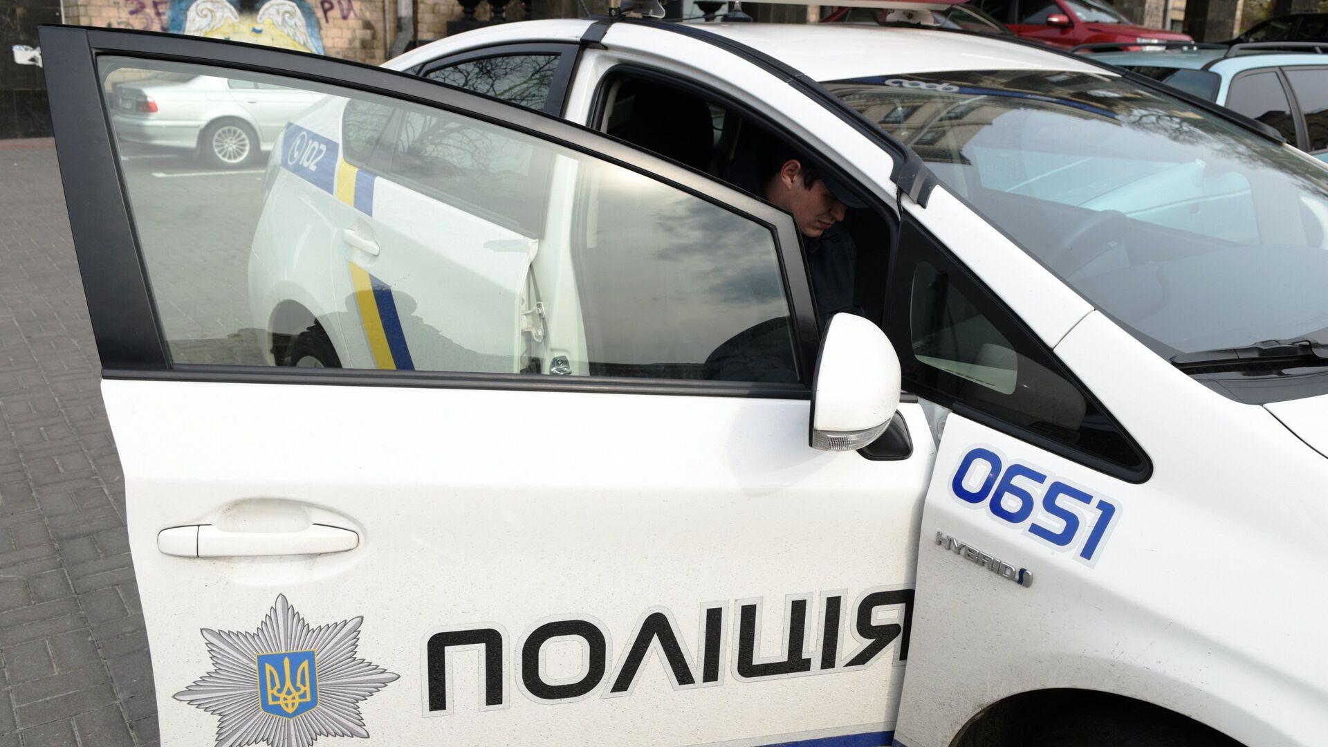 Автомобиль полиции в Киеве - РИА Новости, 1920, 30.09.2020