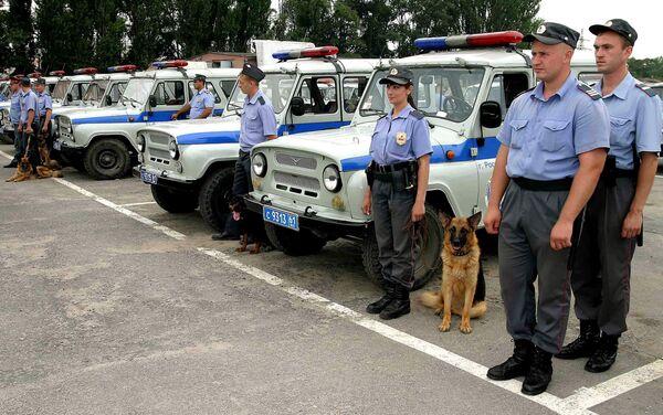 Милиция и машины