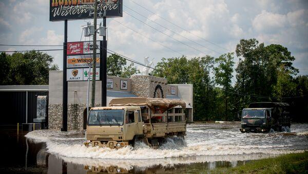 Последствия наводнения после урагана Харви. Архивное фото