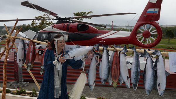 На выставке Улица Дальнего Востока на набережной бухты Аякс, которая открылась в рамках Восточного экономического форума во Владивостоке