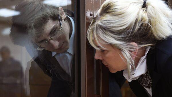Член хакерской группы Шалтай-Болтай Александр Филинов во время оглашения приговора в Московском городском суде. 6  сентября 2017