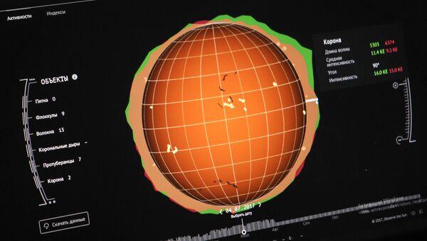 Модель солнечной активности. Архивное фото.