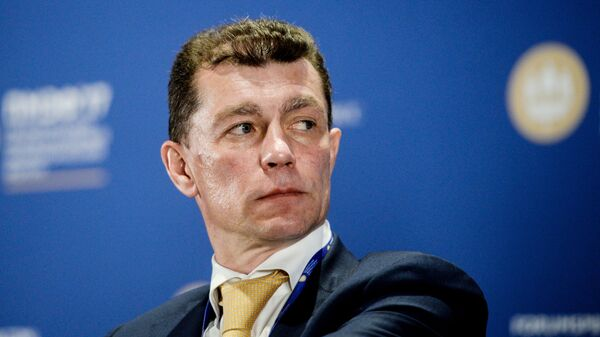 Министр труда и социальной защиты Российской Федерации Максим Топилин на Санкт-Петербургском международном экономическом форуме 2017