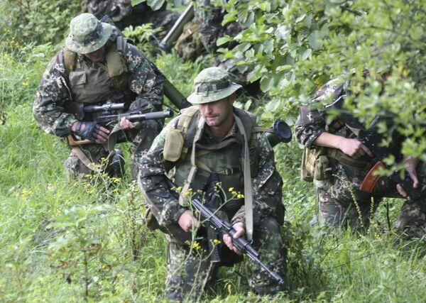 Российские военные в районе села Хурча в Обхазии