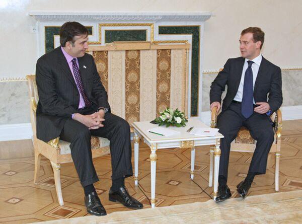 Встреча президентов России и Грузии