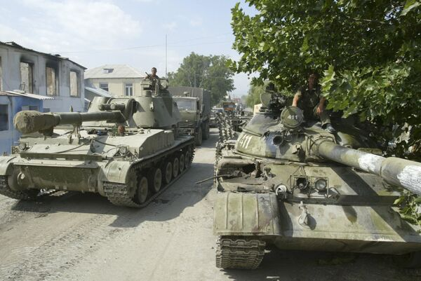 Российские войска в Цхинвали