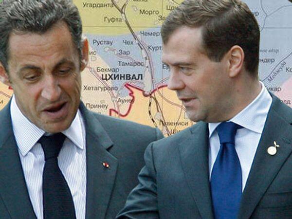 Медведев и Саркози