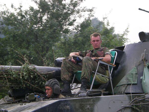 Российские войска в Осетии