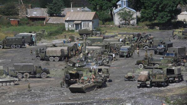 Военная база российских военнослужащих около Рокского туннеля