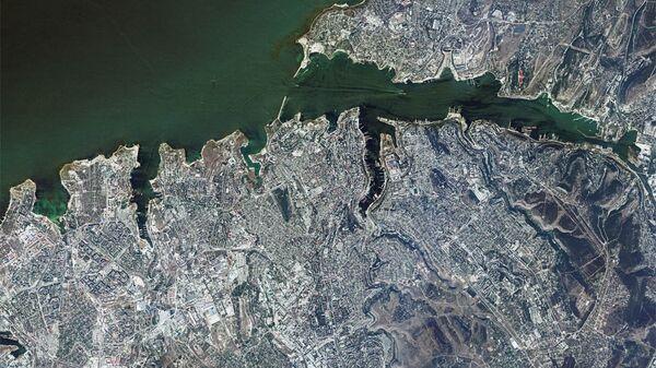 Вид Севастополя из космоса