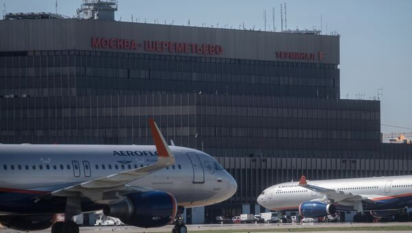 Терминал F аэропорта Шереметьево в Москве