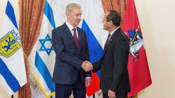 Встреча Сергея Собянина с Мэром Иерусалима Ниром Баркатом. 15 сентября 2017