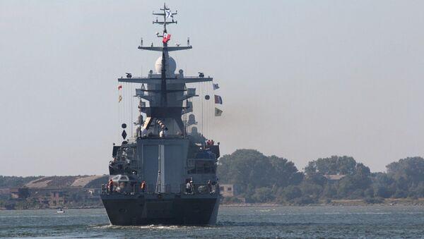 Корабли Балтийского флота во время учений Запад-2017. 16 сентября 2017
