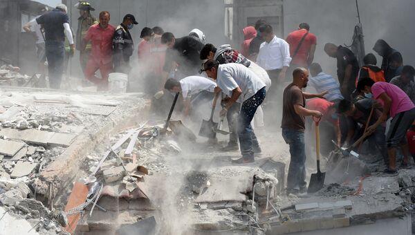Последствия землетрясения в Мехико. Архивное фото