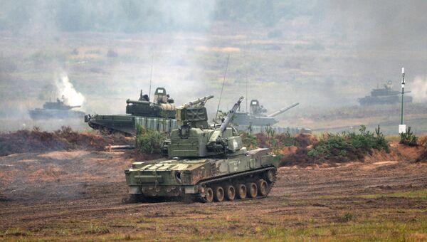 Зенитный пушечно-ракетный комплекс 2С6 Тунгуска. Архивное фото