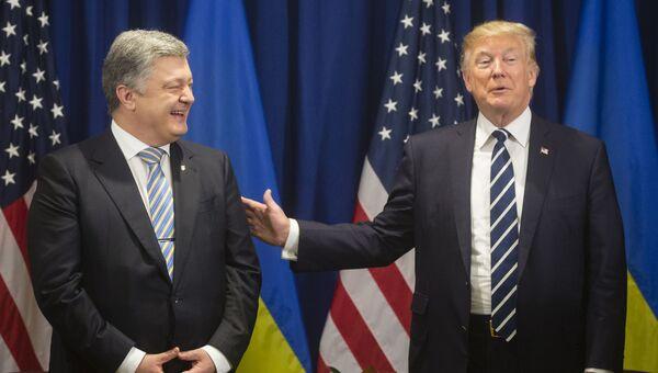 Президент Украины Петр Порошенко и Президент США Дональд Трамп. Архивное фото