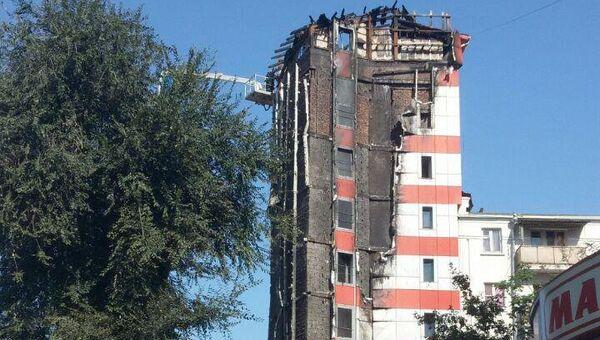 Сгоревшая гостиница в центре Ростова-на-Дону. 22 сентября 2017