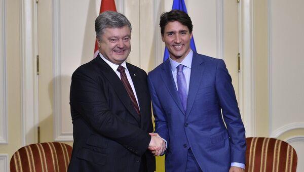 Встреча президента Украины Петра Порошенко и премьер-министра Канады Джастина Трюдо, Канада. 22 сентября 2017