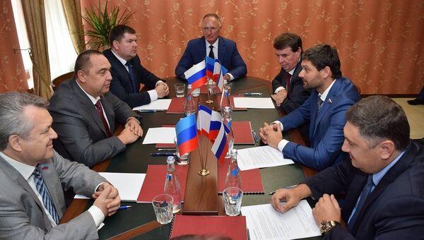 Заседание Интеграционного комитета Россия – Донбасс в Луганске