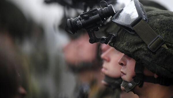 Военнослужащие на совместных стратегических учениях Белоруссии и России Запад-2017