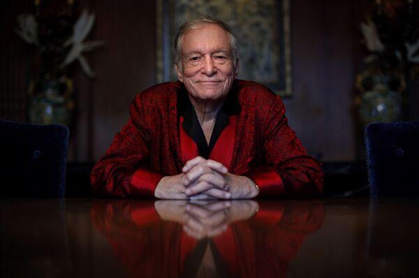 Хью Хефнер в Особняке Playboy в Лос-Анджелесе. 4 ноября 2010