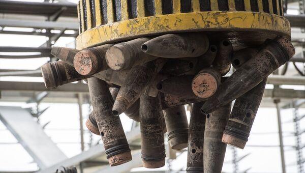 Утилизация обожженных боеприпасов с отравляющими веществами в рамках программы уничтожения последнего химического оружия на объекте Кизнер в Удмуртии