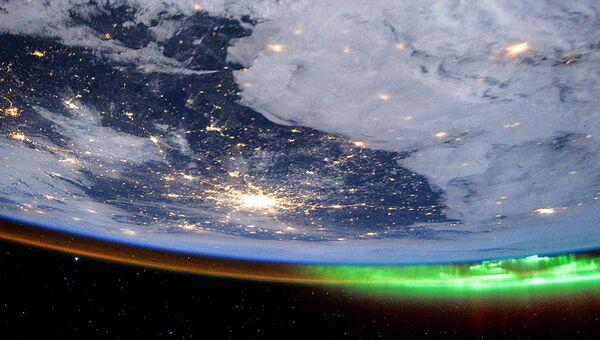 Фотография города Москва из космоса