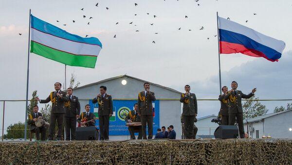 Тактические учения с воинскими контингентами России и Узбекистана
