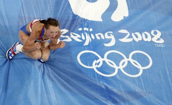 Российская прыгунья в высоту Анна Чичерова