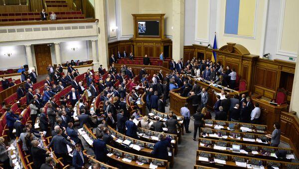 Депутаты на заседании Верховной рады Украины в Киеве. 5 октября 2017