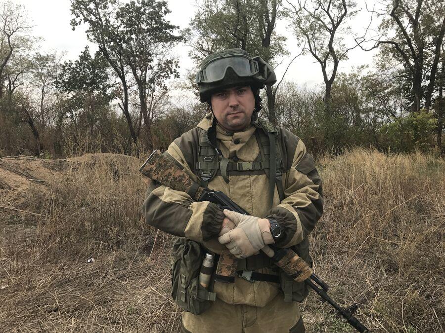 Начальник штаба разведывательно-штурмового батальона Александр Крестов, Донбасс
