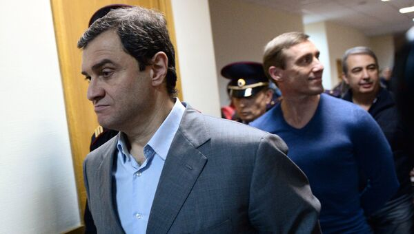Бывший заместитель министра культуры РФ Григорий Пирумов перед оглашением приговора в Дорогомиловском суде Москвы. 9 октября 2017