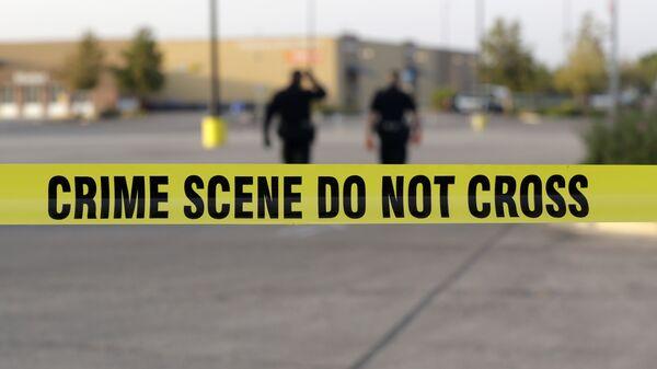 Сотрудники правоохранительных органов США на месте преступления в Сан-Антонио, Техас