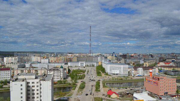 Вид на центральную часть города Якутска