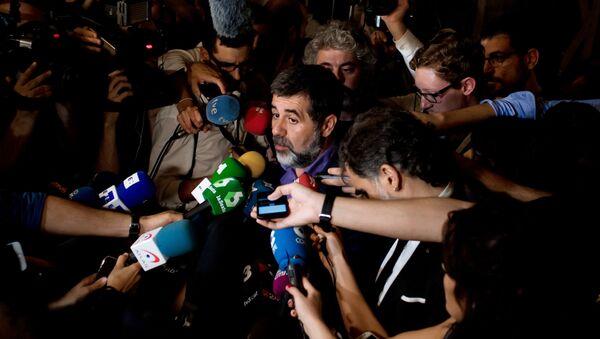 Находящийся под следствием глава Каталонской национальной Ассамблеи Жорди Санчес. Архивное фото