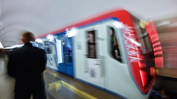 Поезд на Таганско-Краснопресненской линии московского метрополитена. Архивное фото