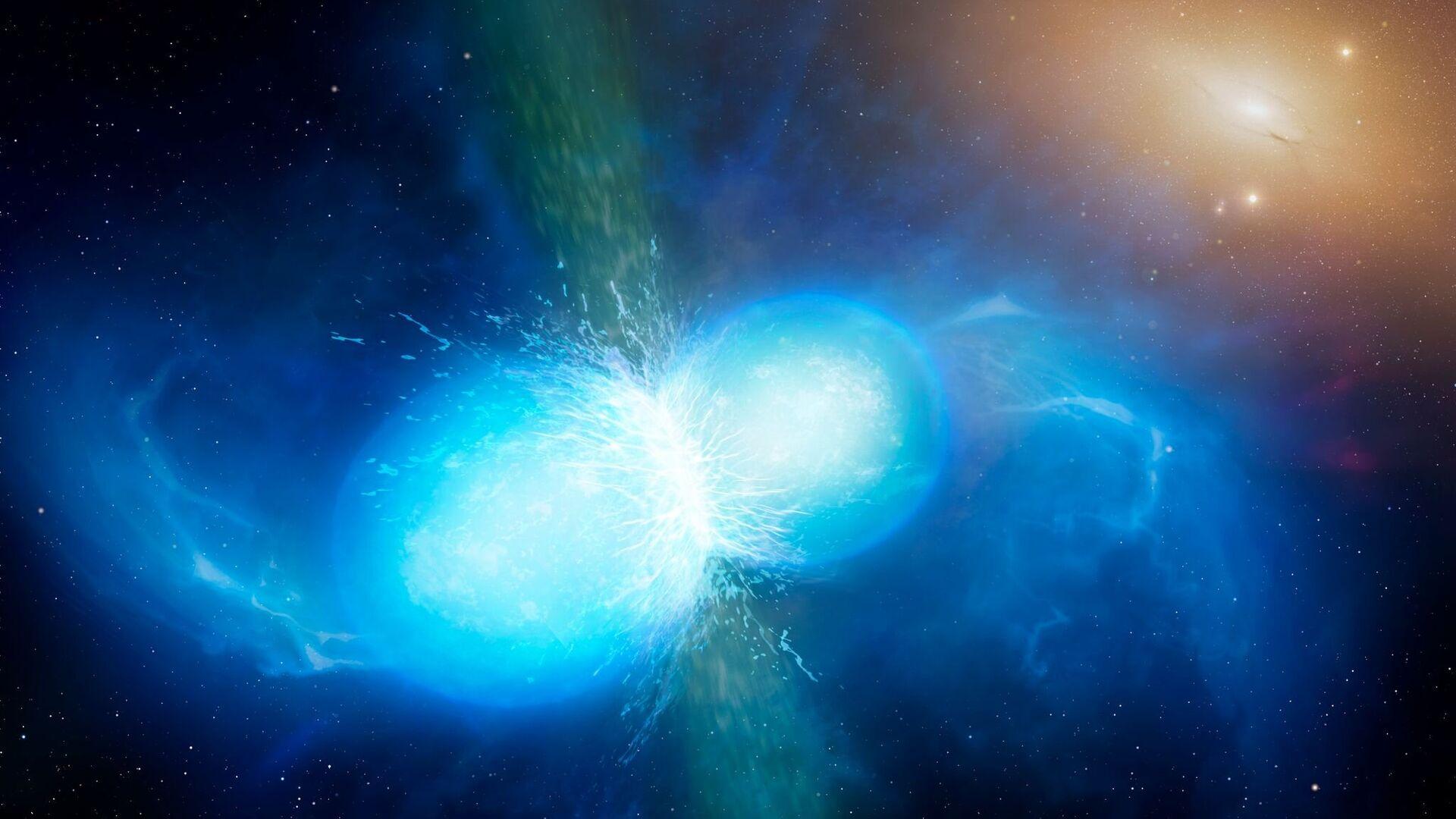 Слияния нейтронных звезд могли породить все запасы золота Вселенной - РИА Новости, 1920, 25.04.2019