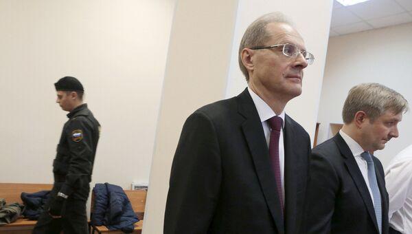 Бывший губернатор Новосибирской области Василий Юрченко в Центральном районном суде Новосибирска во время оглашения приговора. 19 октября 2017