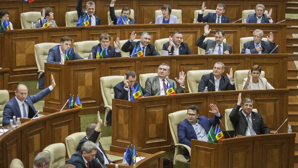 Заседание парламента в Кишиневе. Архивное фото