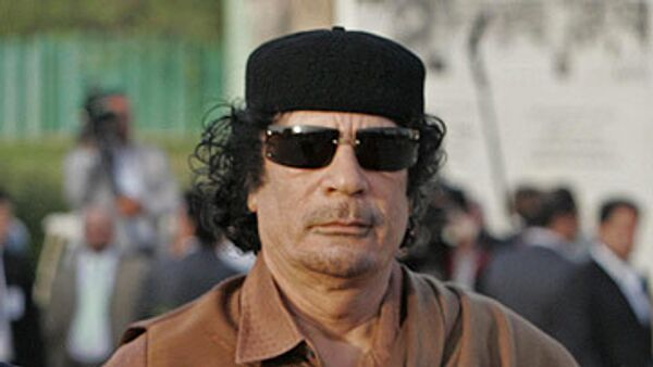 Ливийский лидер Муаммар Каддафи. Архив