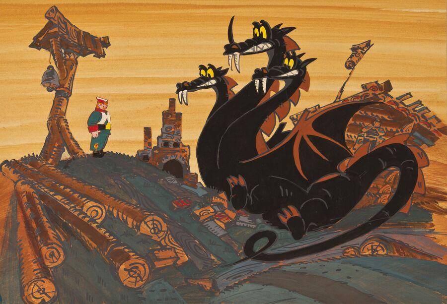 Рисунок к мультфильму Межа