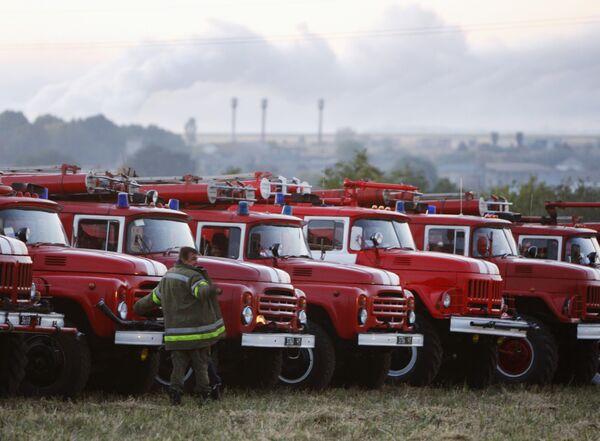 Пожар на военном складе в Харьковской области
