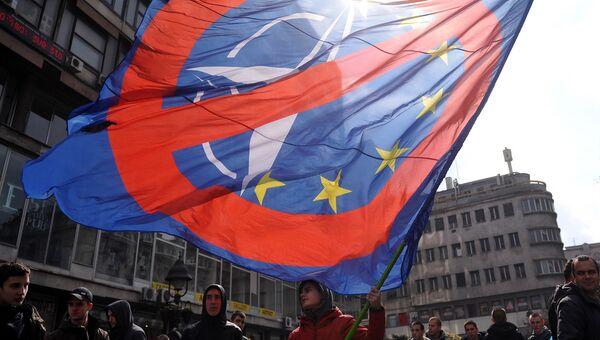 Митинг против НАТО в Белграде