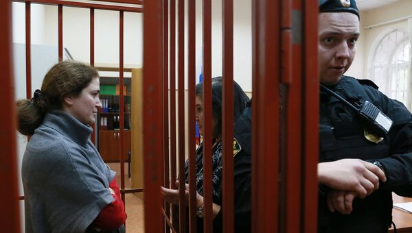 Директор Российского академического молодежного театра (РАМТ) Софья Апфельбаум в Басманном суде Москвы. Архивное фото