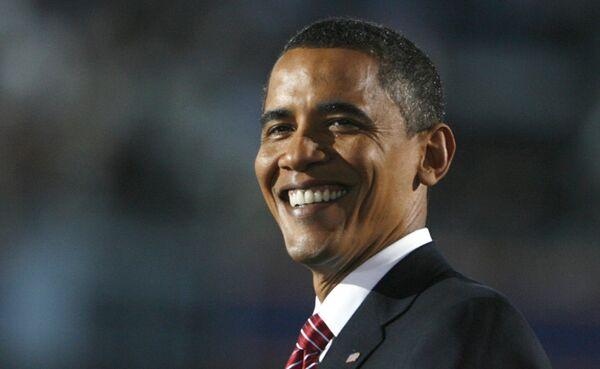 Кандидат в президенты США Барак Обама на общенациональном съезде демократической партии