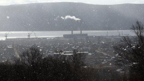 Снег над городом Николаевск-на-Амуре. Архивное фото