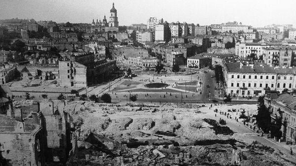 Вид разрушенного Киева