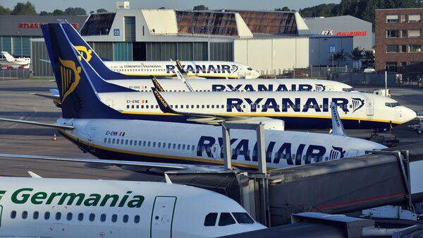 Самолеты в аэропорту Бремена, Германия. Архивное фото